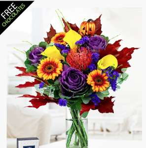Free Delivery on Prestige Flowers - £20.49 for Halloween Bouquet + Free Chocs