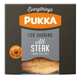 Morrisons - Pukka All Steak Pie/Chicken&Gravy Pie - Family Size 550g £2