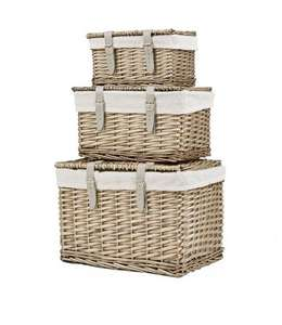 Split Willow Storage Trunks - Set of 3 £29.99 @ Very - Free click and collect