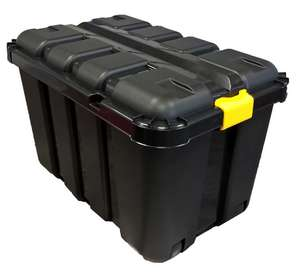 Heavy Duty Black 145L Plastic Stackable Storage Trunk - £9 @ B&Q (Free Collection)