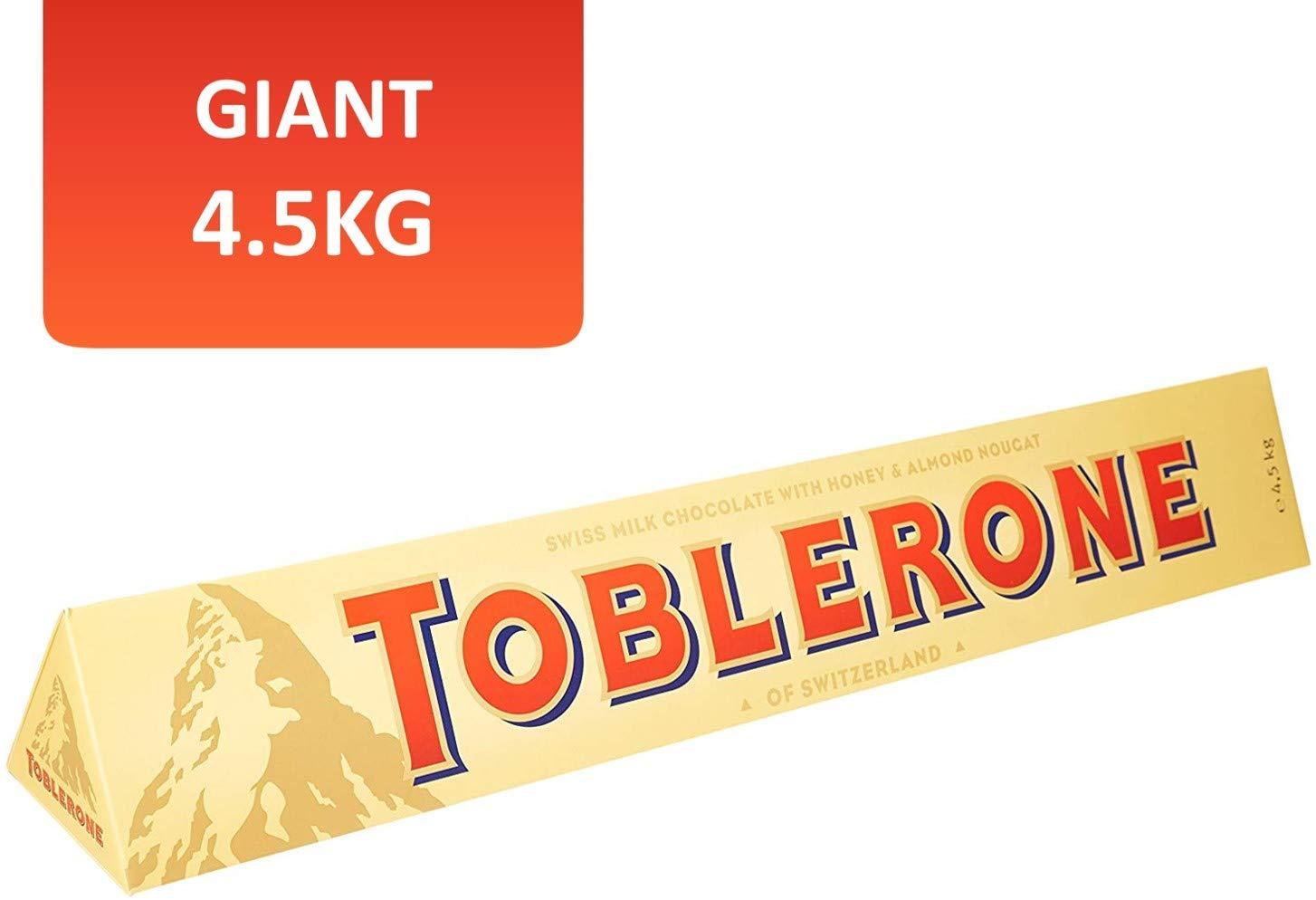 Toblerone Milk Chocolate Jumbo Bar 4.5kg £52.99 @Amazon