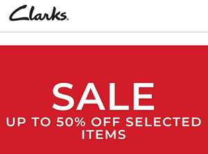 Up to 50% off in many different styles for women, men and kids @ Clarks + 10% cashback in quidco