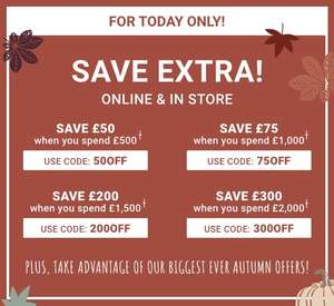 Mamas and Papas Autumn Sale - Various Offers