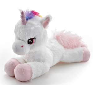 50% off Snuggle Buddies range: 36cm Laying Unicorn £5 - Pink And others @ The Entertainer