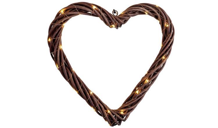 Half Price Argos Home Heart Lit LED Wreath 45cm - £7.50 @ Argos (Free Collection)