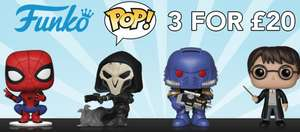 Funko POP! 3 For £20 @ Zoom (Includes Pickle Rick Translucent Exclusive)