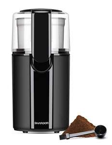 SHARDOR Coffee Grinder Electric with Removable Bowl, Grinder for Grain, Coffee Bean, Nuts, Black @Amazon 21.24 Prime