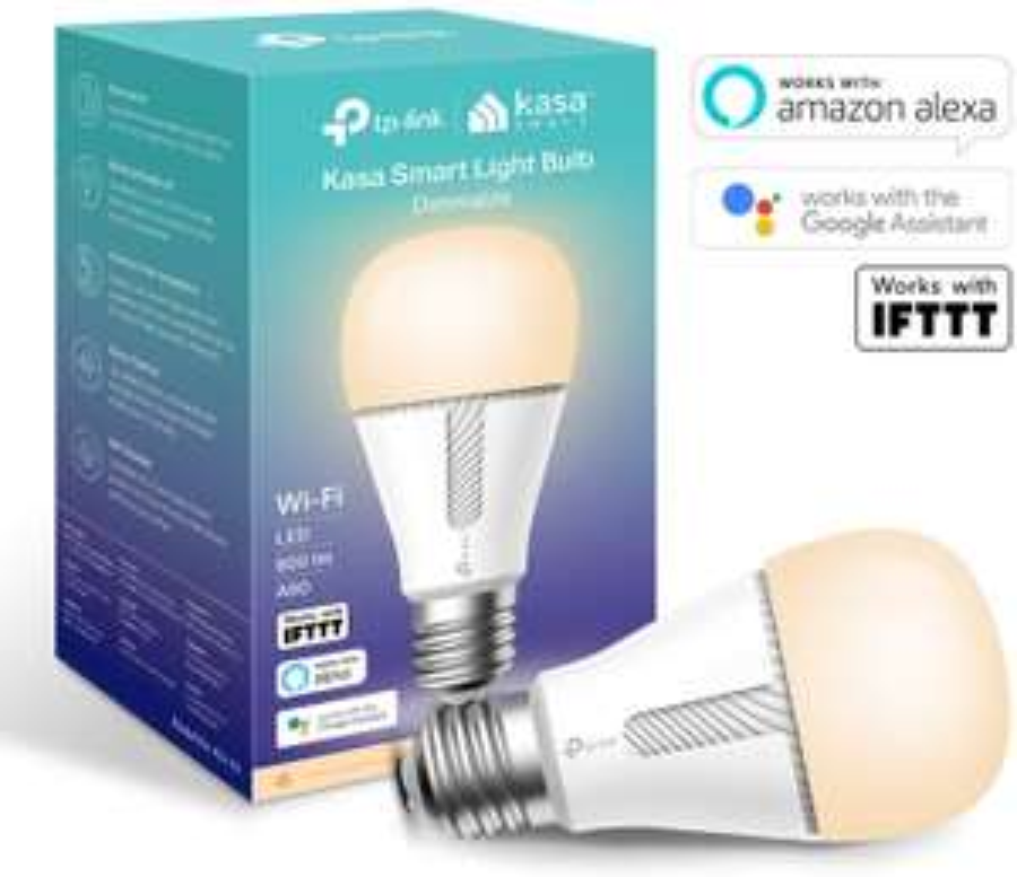 Kasa Smart Bulb by TP-Link, WiFi Smart Switch, E27/B22 10W, Works with Amazon Alexa (Echo and Echo Dot), Google Home  £14.99 @ Amazon