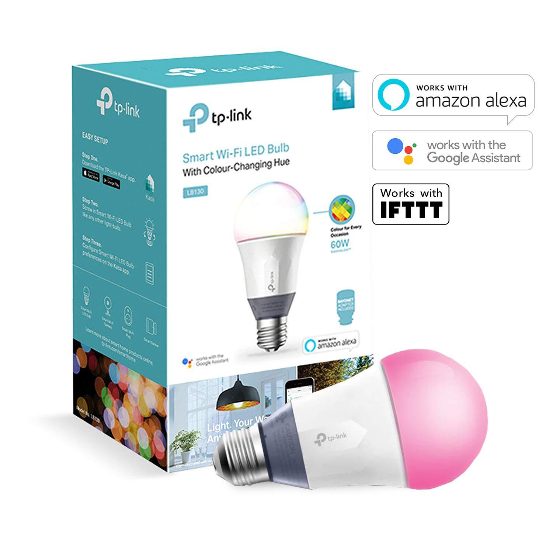 TP-Link Smart Bulb, WiFi Smart Switch, E27/B22 - Colour-Changeable £19.99 @ Amazon