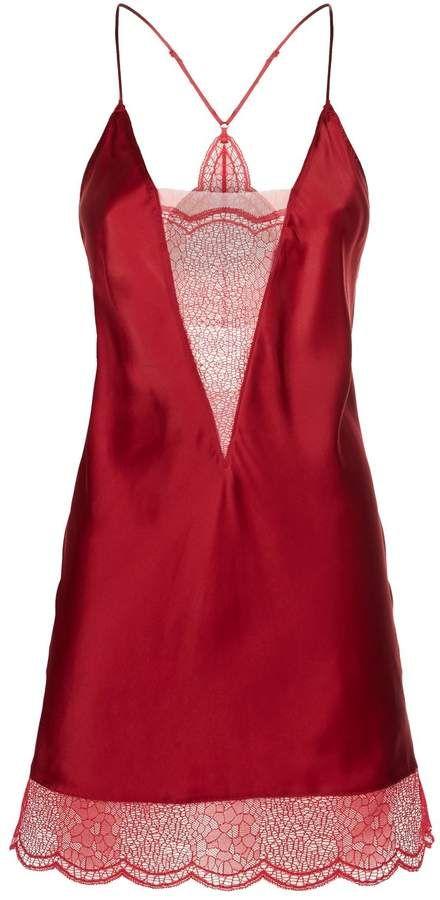 CALVIN KLEIN  Red Lace Detail Nighty £19.99+£1.99 c&c @ TK Maxx