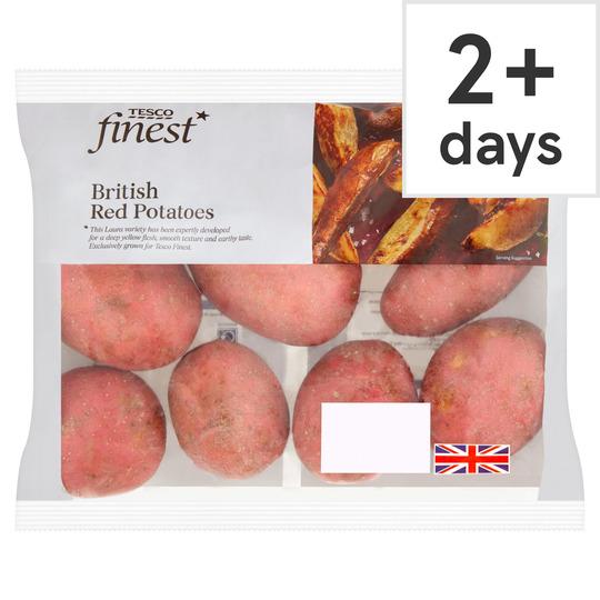 Tesco Finest Red Potato 1.75Kg £1 / Persimmons Min 3 Pack £0.45 /Baby Plum Tomatoes 325G £0.49 / Rubens Apple 6 Pack £1  @ Tesco