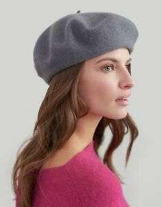 Joules Womens Wilsford Felted Beret in CHARCOAL in One Size Free UK Delivery £3.95 joules eBay