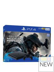 PS4 500GB with Call Of Duty Modern Warfare 2019 with Optional Extras £209.99 at Very
