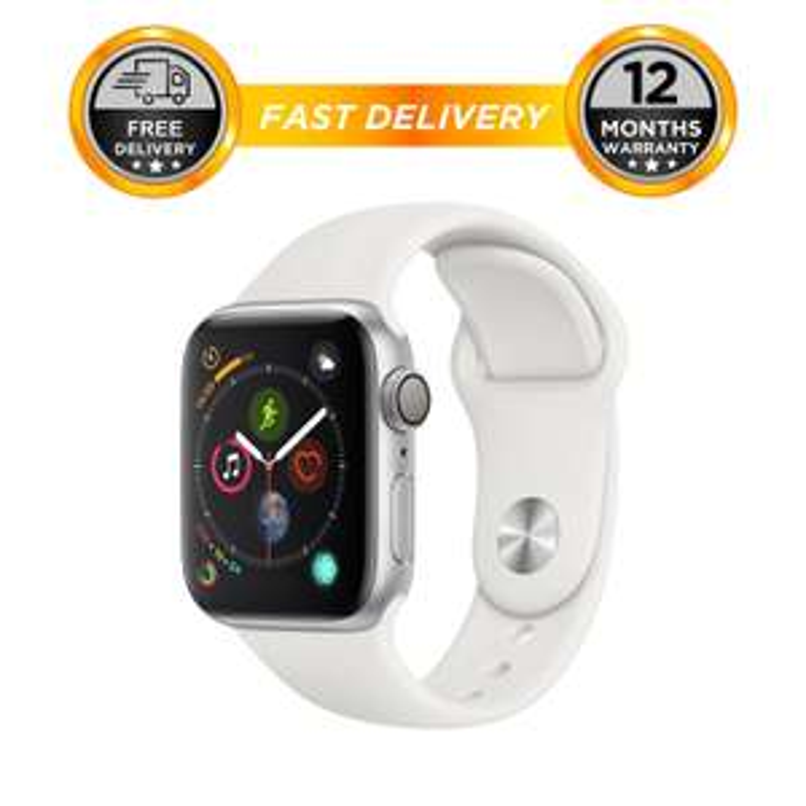 Apple Watch series 4 40mm silver sports band GPS £276.21 @ hitechelectronicsuk / eBay