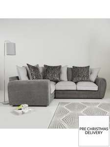 Mosaic Fabric Left-Hand Double Arm Corner Group Sofa £674 @ Very  (20% back via buy now pay later sign up)