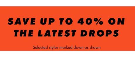 Up to 40% off new drops at ASOS