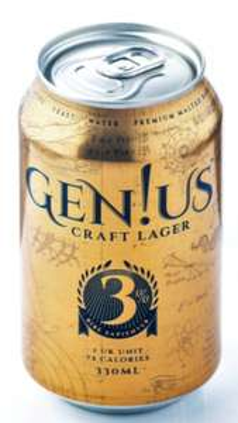 Gen!us Craft Lager 330ml cans 59p @ Home Bargains (Lowestoft )