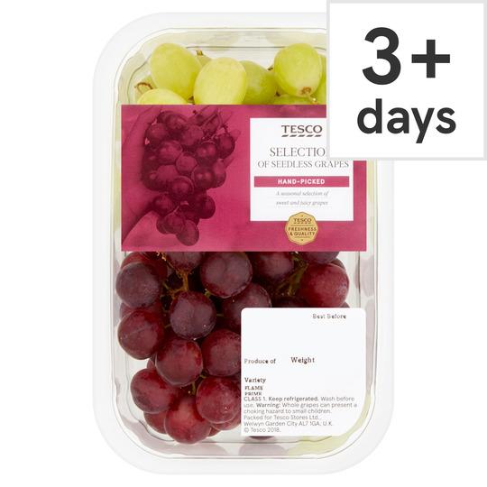 Tesco Seedless Grape Selection Pack 500G £1.59 @ Tesco