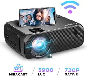 Wireless Video Projector Native 1280*720p only 81.99 Sold by ABOX Home and Fulfilled by Amazon (+£4.49 non-prime / account specific promo)