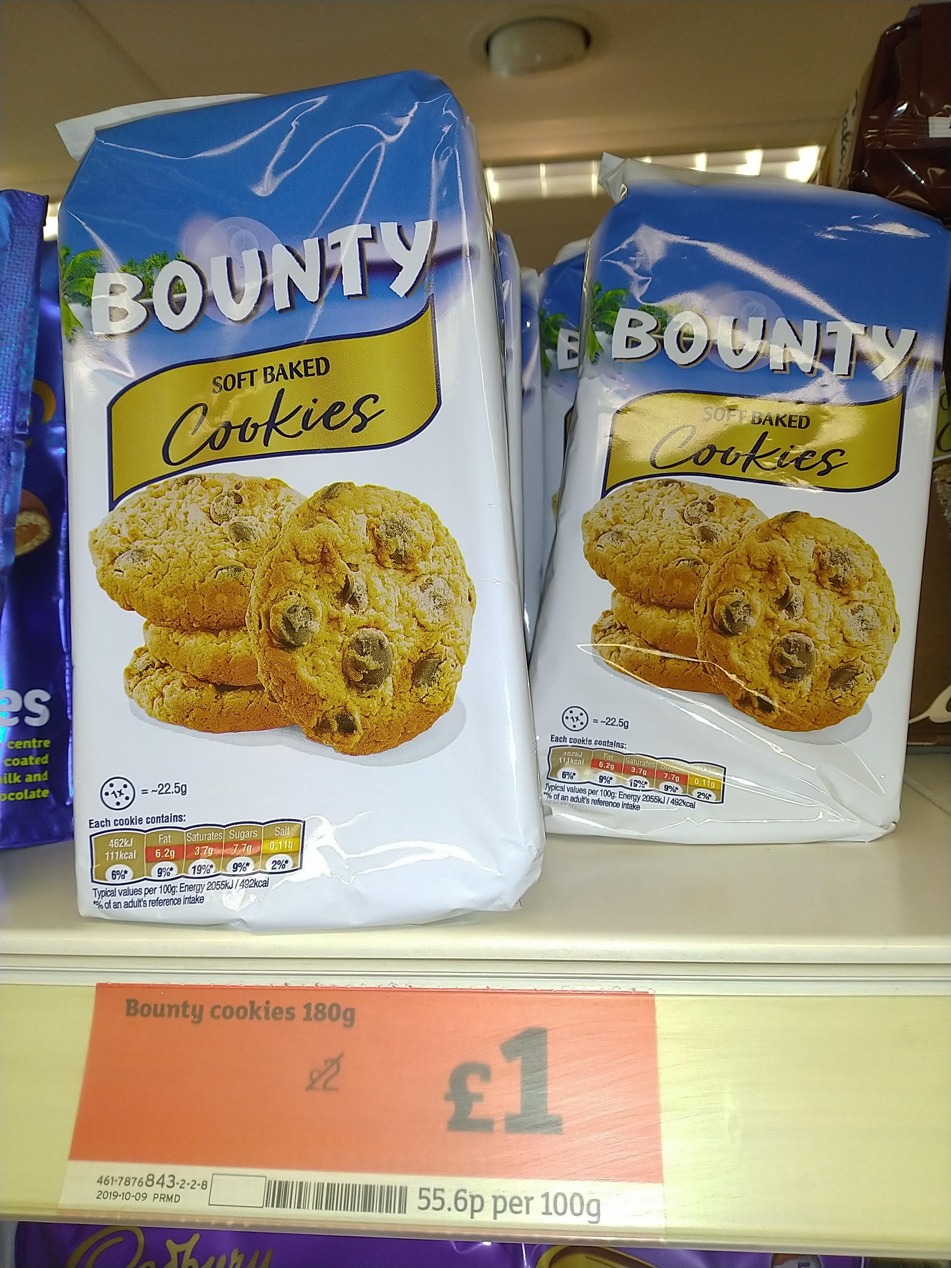 Bounty Cookies - £1.00 in Sainsbury's online /In-store
