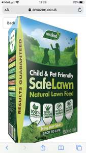 Westland SafeLawn Child and Pet Friendly Natural Lawn Feed 80 m2, 2.8 kg £4.82 @ Amazon add-on items