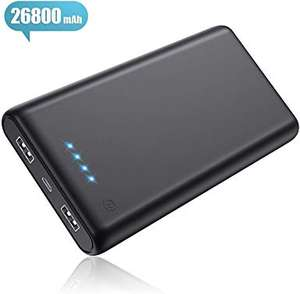 Pxwaxpy Power Bank, Portable Charger [26800mAh Newest Version]  £14.50 @ Sold by XINLANG-EU and Fulfilled by Amazon (£19.99 Non-prime)