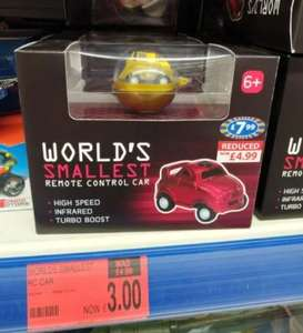 World's Smallest Remote Control Car £3 at B&M Retail Belle Vale