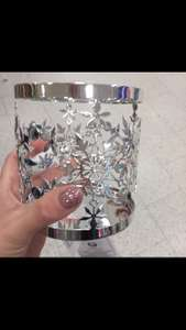 Official Yankee candle Christmas holder/ jar sleeve for large candles in store @ Boots St.Helens