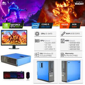 Custom Compact Dell Gaming PC Intel i5 / 8GB / 480GB SSD / GTX 1050Ti / Win10  £314 @  blackmoreit  ebay