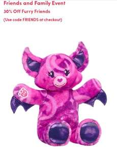 30% off Build-a-bear furry friends with code £12.95 at Build-a-Bear Workshop