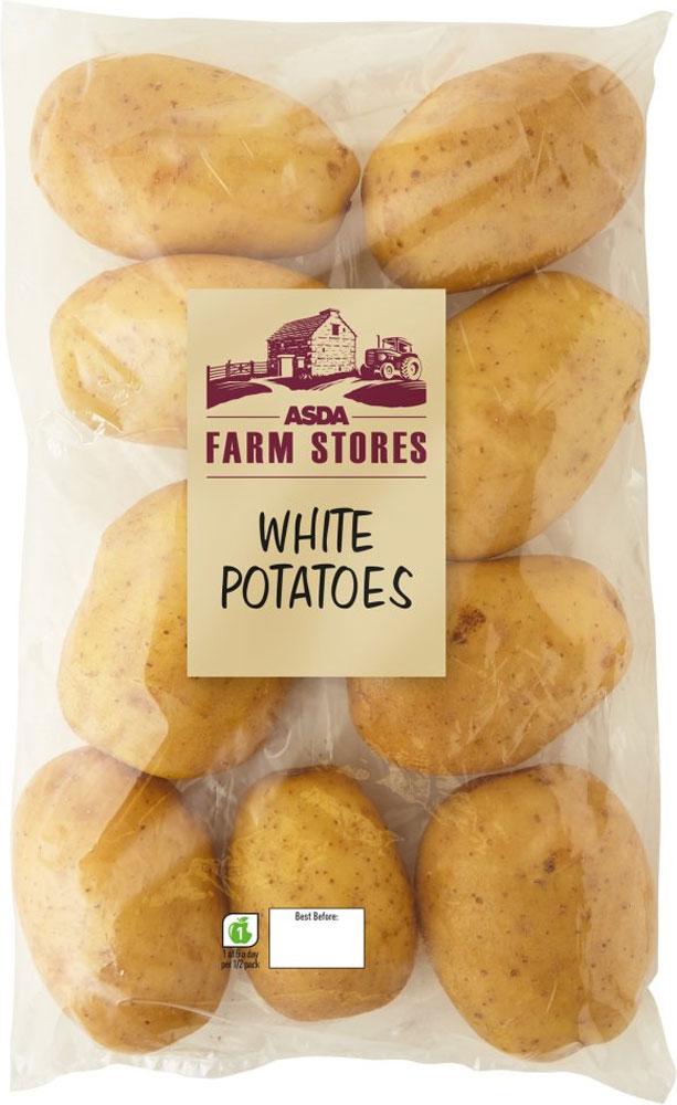 Asda Farm Stores White Potatoes 2.5kgs for £1