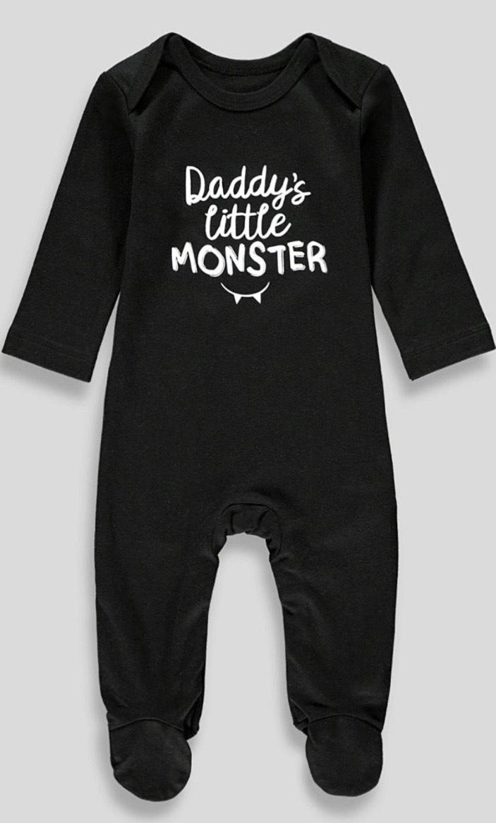 Daddy's little monster sleepsuit £2.50 @ Matalan (Free c&c)
