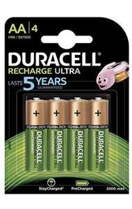 Duracell Recharge Ultra Type AA Batteries 2500 mAh, Pack of 4 £8.06 + £2.99 delivery Non Prime @ Amazon