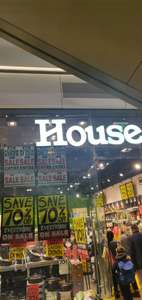 70% off everything @ House (Westfield mall in Stratford Lower Ground floor)