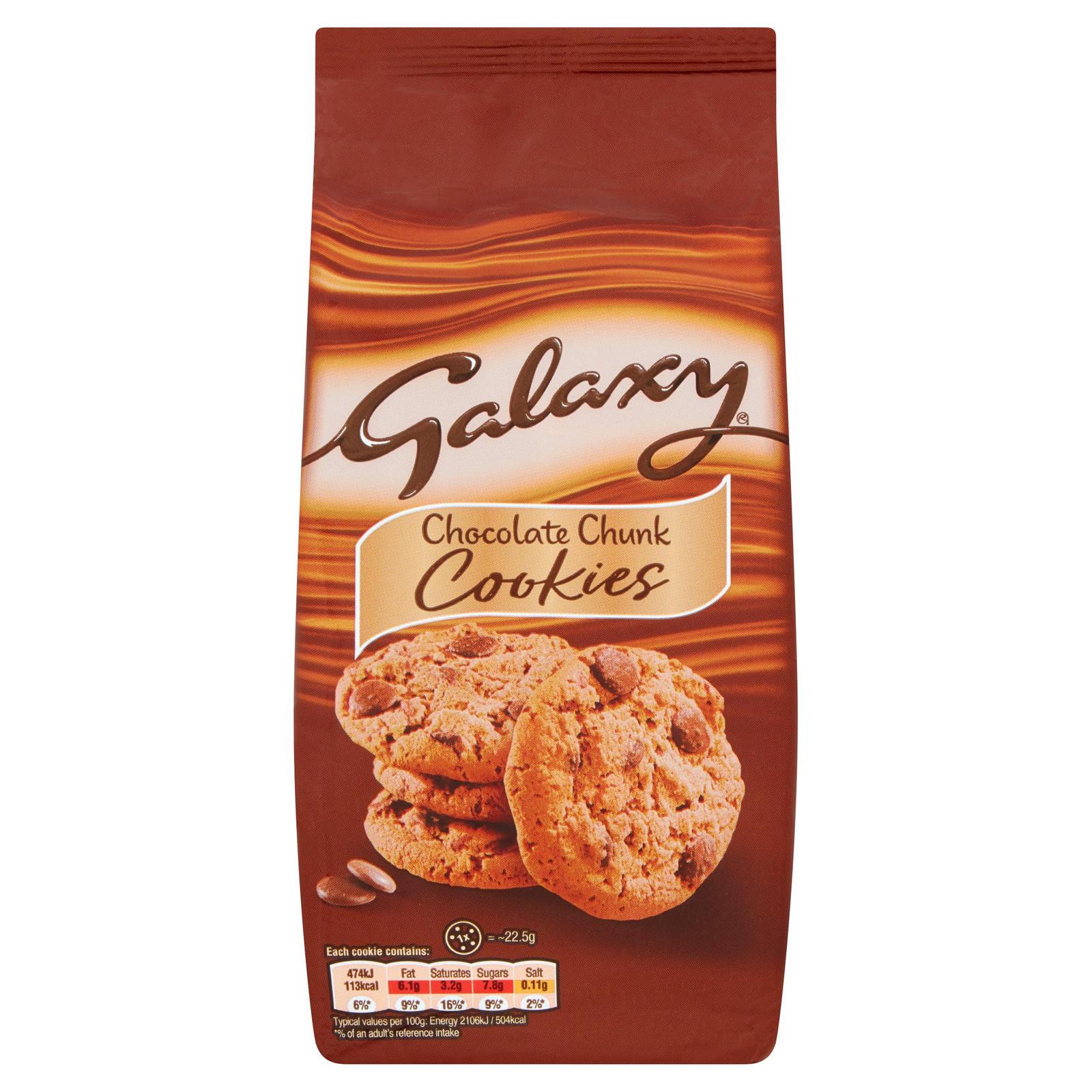 Galaxy Chocolate Chunk Cookies 180g £1.00 at Sainsbury's