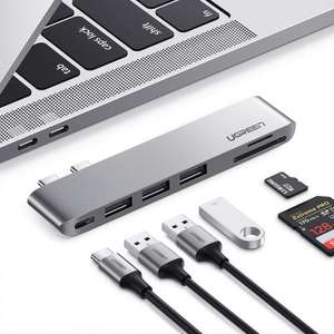 UGREEN USB C Hub for MacBook Pro, 6-In-1 Type C Hub Adapter £15.99 Delivered Sold by UGREEN GROUP LIMITED UK and Fulfilled by Amazon