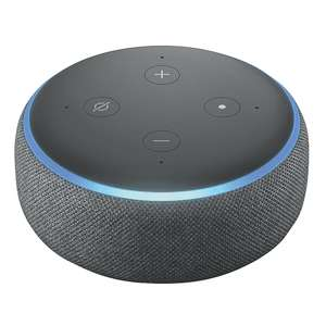 Echo Dot (3rd Gen), Charcoal Fabric + 1 month of Amazon Music Unlimited for £8.98 or possibly 99p (New Subscribers) @ Amazon