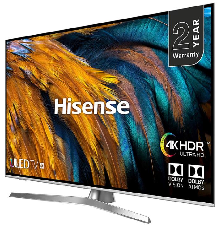 55 inch Hisense H55U7BUK  4K Ultra HD HDR ULED Smart TV + 2 Year Warranty - £489 with code @ Hughes direct eBay