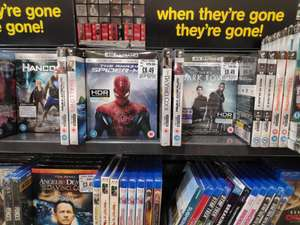 4k UHD Offers - From £8.49 Each Instore @ HMV (Manchester)