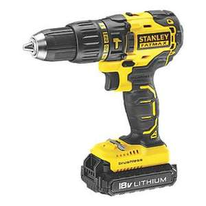 STANLEY FATMAX KFMCD628D1K-GB 18V 2.0AH LI-ION BRUSHLESS CORDLESS HAMMER DRILL £79.99 Free Battery Can Also Be Claimed @ Screwfix
