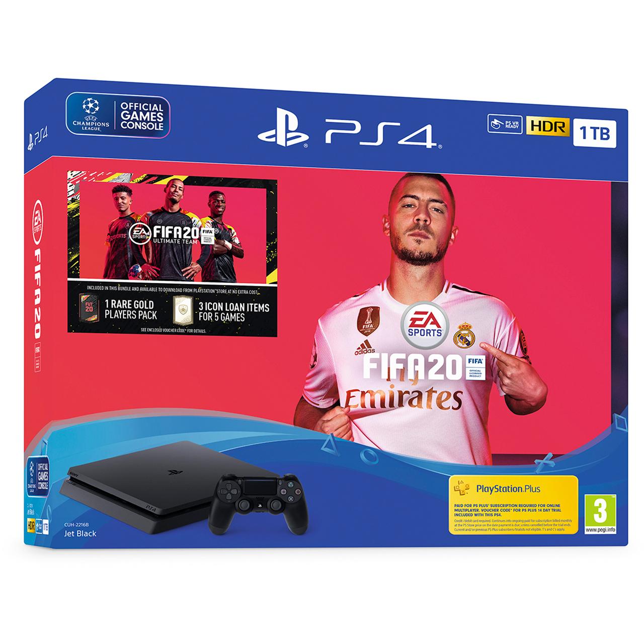 PlayStation 4 1TB with FIFA 20 - Black £259  AO