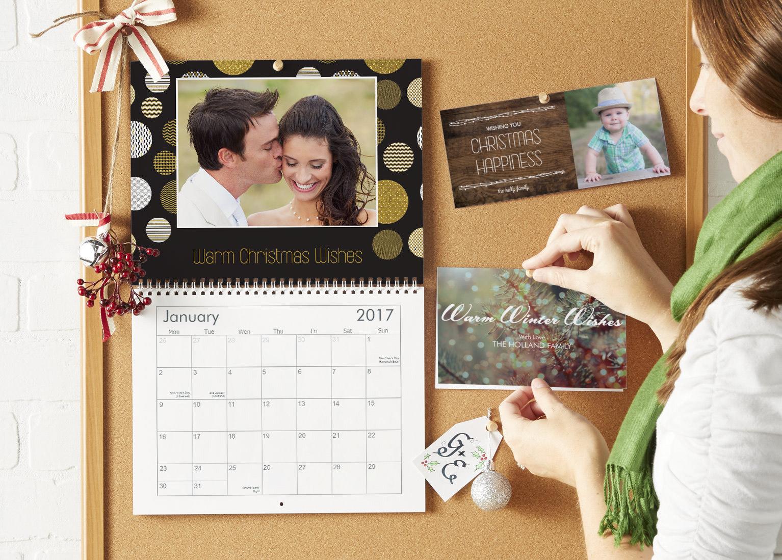 Vistaprint 40% off calendars and Christmas Cards