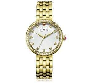 Rotary Ladies Semi Precious Stone Set White Dial Gold Plated Bracelet Watch now - £22.99 Delivered @ Argos / Ebay