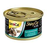 GimCat ShinyCat in Jelly / Cat food with poultry in jelly for adult cats / Chicken / 24 cans (24 x 70 g) @ Amazon - £3.24 Prime (+£4.49 NP)