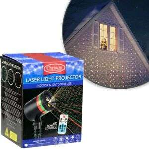 Christmas Laser Light Projector Moving Pattern Outdoor Lamp Timer Remote Control - £19.99 @ eBay / thisisitfamousvaluestores