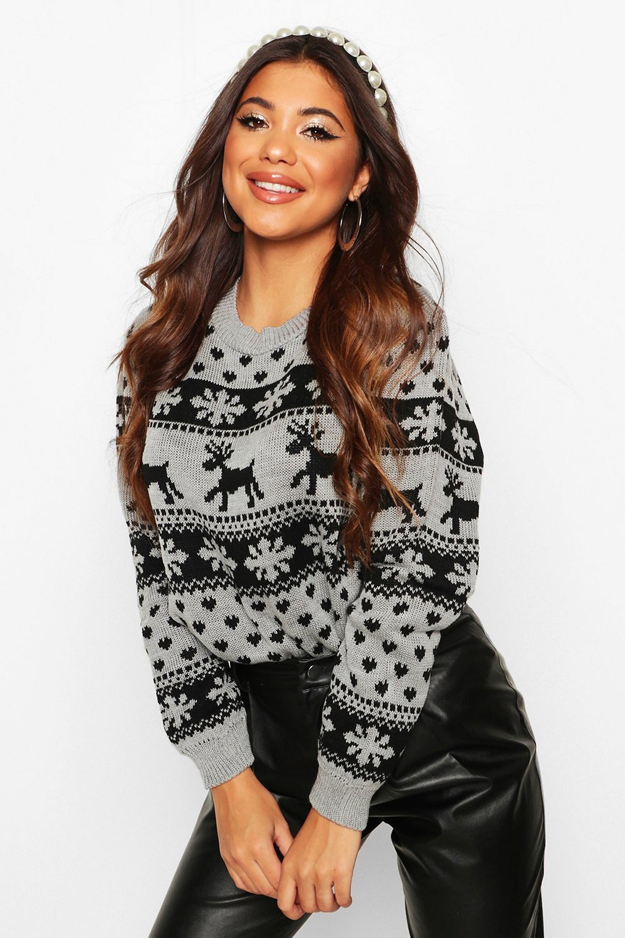 Reindeer Fairisle Christmas Jumper - £12 @ Boohoo