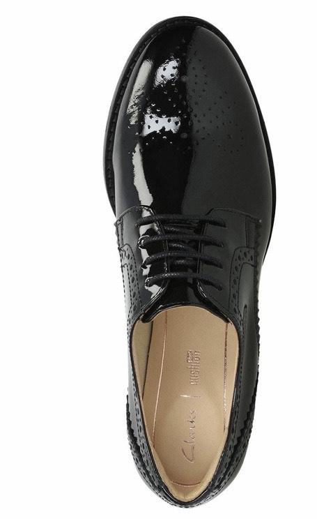 Clarks Women's Netley Rose Derbys, (Black Patent) from £35 @ Amazon