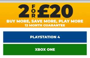 2 Preowned Xbox One / PS4 Games for £20 @ GAME