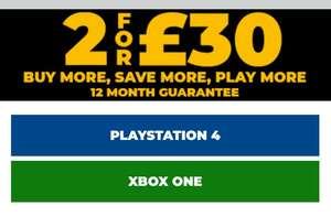 2 pre-owned games for £30 @ Game