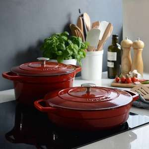 ProCook 2 cast iron casseroles and free Santoku knife for £99 Delivered 25 year Guarantee.